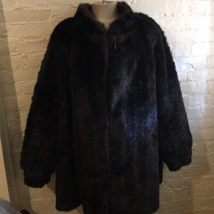 Vintage Plus Sized 1970s Faux Fur Coat